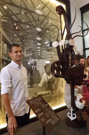 Рекордная шоколадная скульптура в Одессе. Фото с сайта omr.gov.ua